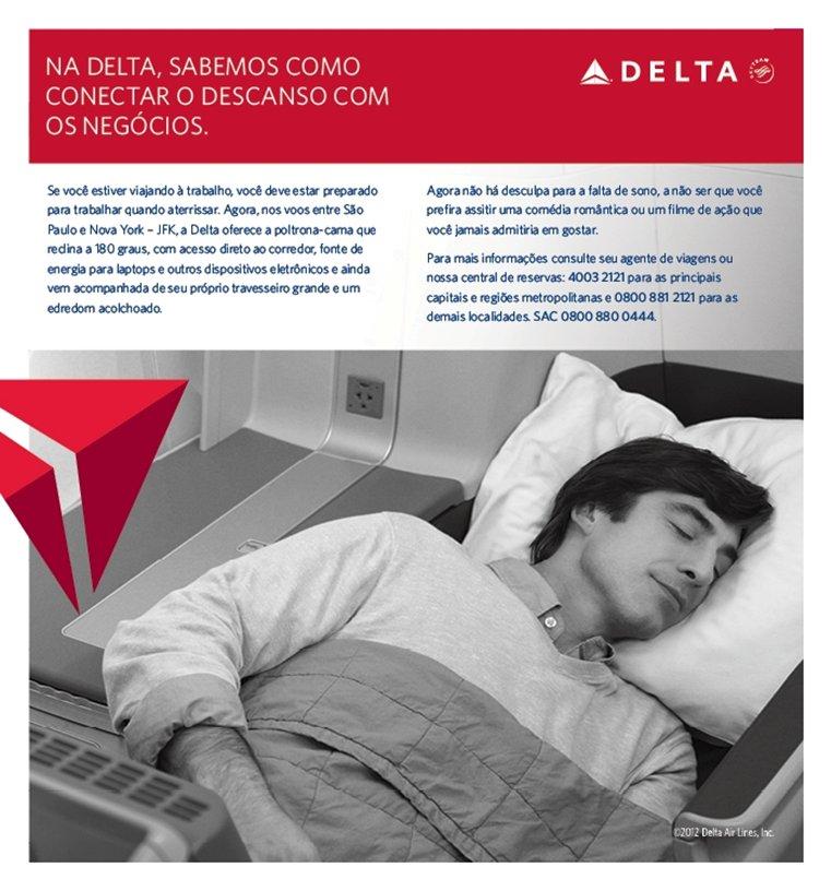 A Delta sabe como conectar o descanso com os negócios