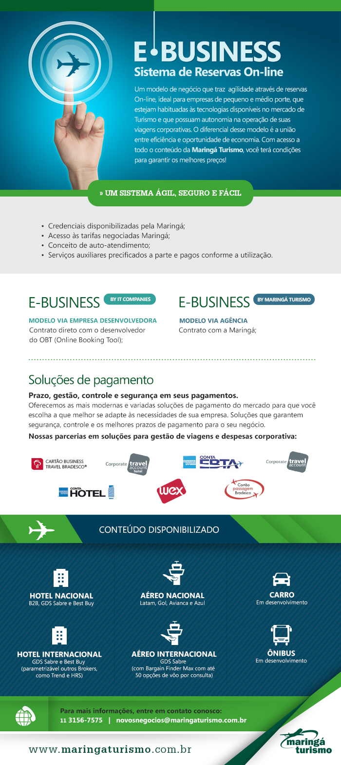 E Business | Sistema de Reservas On line Maringá Turismo