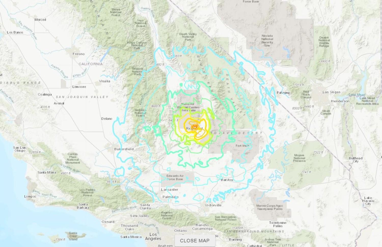 Terremoto de 6,4 graus atinge a Califórnia