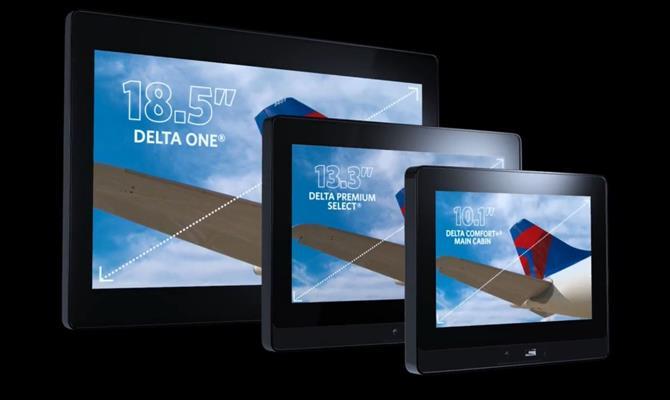 Confira cinco recursos do sistema de entretenimento da Delta