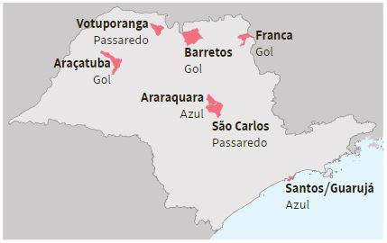 Incentivo fiscal de Doria coloca 21 cidades na rota das companhias aéreas