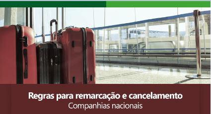 Regras para remarcação e cancelamento – Companhias Nacionais