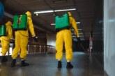 Exército e Marinha fazem desinfecção contra o coronavírus no Aeroporto de Guarulhos