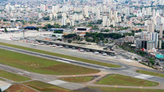 Pista central do Aeroporto de Congonhas começa a ser reformada